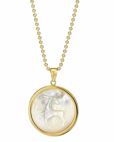 ASHA by ADM Classic Zodiac Pendant in Mother of Pearl