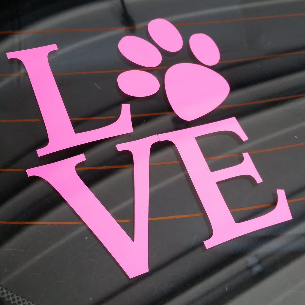 Love Pawprint - Car Window Decal