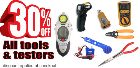 30% off tools and testers