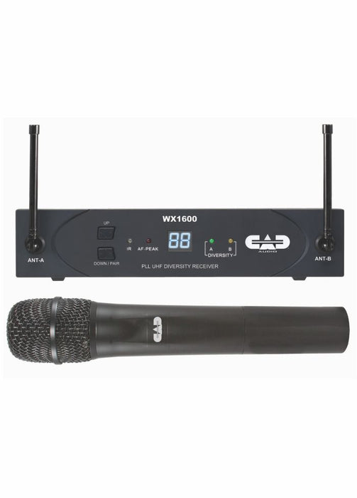 CAD AUDIO UHF Wireless Diversity Sys, 100 channel with Handheld Mic
