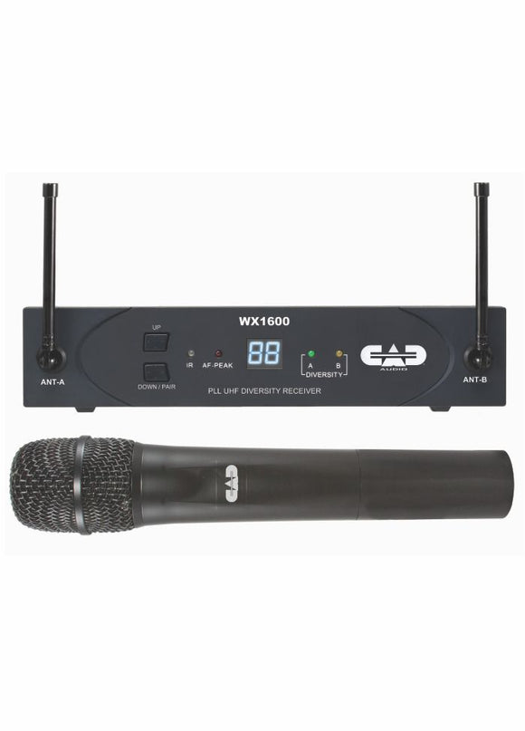 UHF Wireless Diversity Sys, 100 channel with Handheld Mic