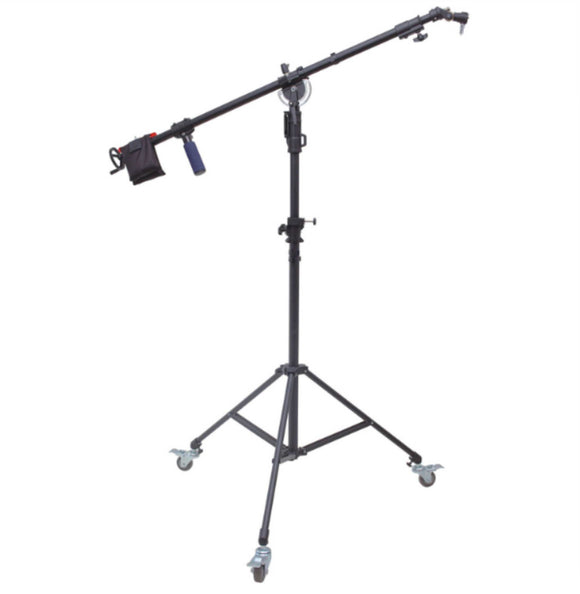 B SERIES 7 FT LIGHT STAND/8 FT BOOM WITH WHEELED STAND