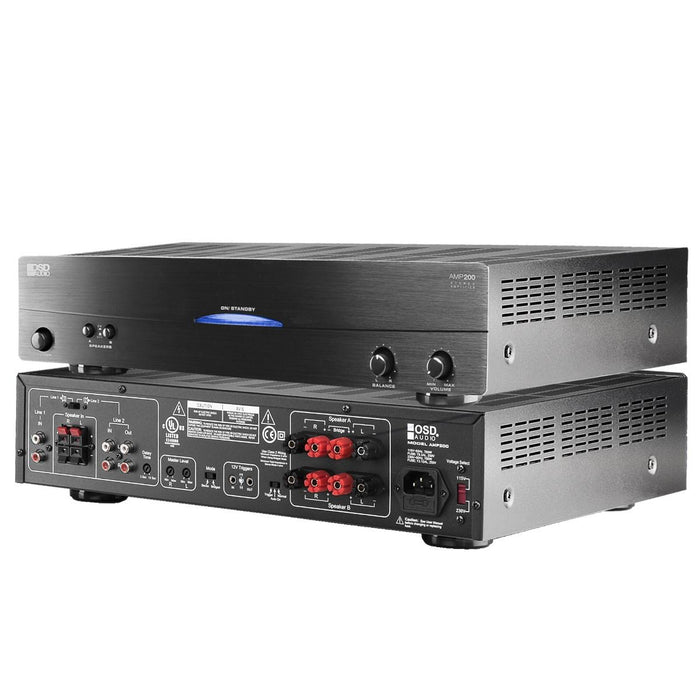 OSD AUDIO AMP200 - 200 Watt, High Current, Class A/B Power Amplifier