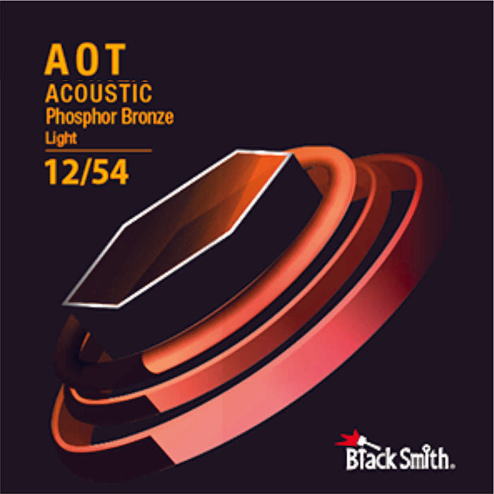 BLACKSMITH Acoustic 6 String Set, Nano-Carbon Coated Phosphor Bronze - Light 012 - 054