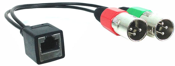 RJ45 (female) to Dual XLR (male) Adapter Cable for AXIA
