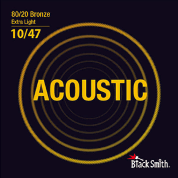 Blacksmith 6 String 80/20 Bronze Acoustic Guitar Strings