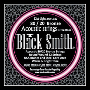 Blacksmith 12 String Non Coated Acoustic Guitar Strings