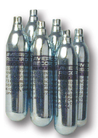 12 gram Carbon Dioxide Gas Cartridge -  6 pack - AMERICAN RECORDER TECHNOLOGIES, INC.