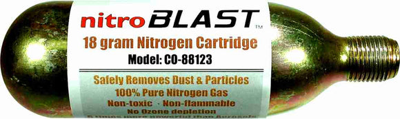 18 gram Nitrogen Gas Cartridge - AMERICAN RECORDER TECHNOLOGIES, INC.
