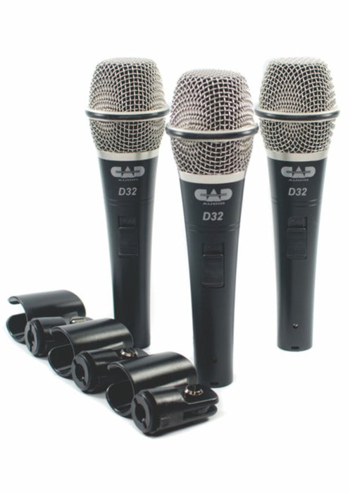 CAD AUDIO 3 Pack Dynamic Microphone