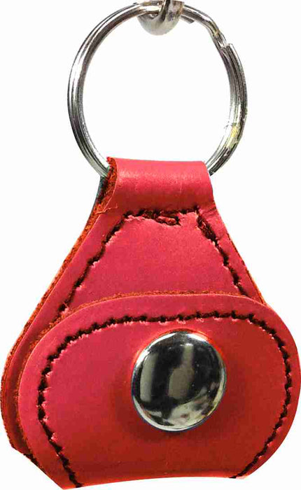 Leather Key Chain with Guitar Pick Holder & Picks