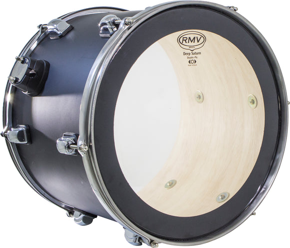 RMV Dual-Layer Deep Saturn Drum Head with Dampening Ring for Bass Drum - 24
