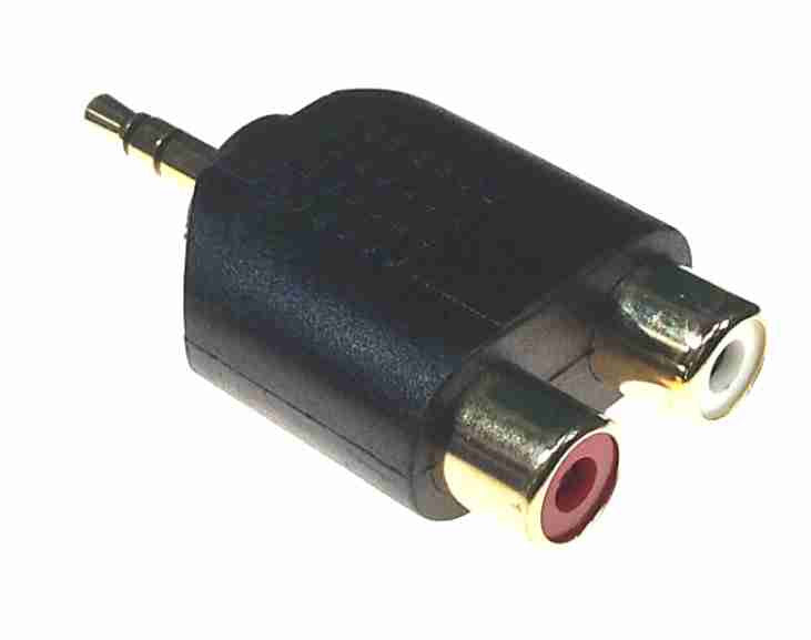 Dual RCA (female) to 3.5mm (male) - AMERICAN RECORDER TECHNOLOGIES, INC. - 2