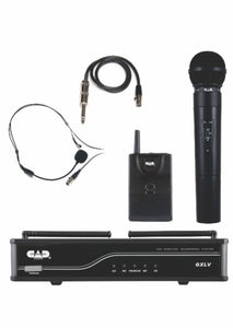 CAD AUDIO VHF Dual Channel Combo Wireless Microphone System