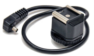 "Zumm Photo Hot Shoe with 12"" cord and PC Male Connector"