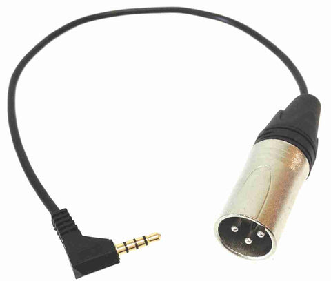 iPhone/iPad Microphone Adapter Cable with XLR Male - AMERICAN RECORDER TECHNOLOGIES, INC. - 1
