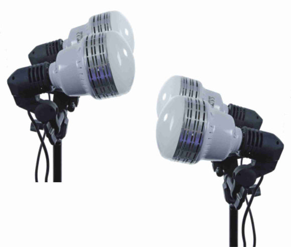 2 35W LEDs, 2 6 ft Stands, 2 Socket Kits