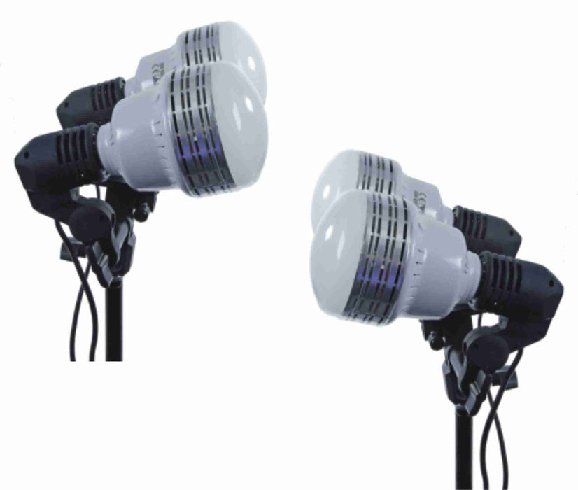 Zumm Photo Deluxe dual 35W LED w/2 6 ft Stand 2 Dual Socket Kit