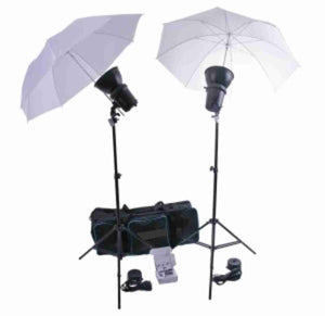 Zumm Photo 400WS Monolight Kit w/Umbrellas, Stands, Bag, WFT