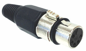 5 pin Female XLR Connector - Nickel