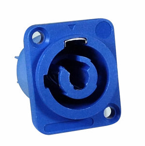 Powercon A Panel Mount - Blue