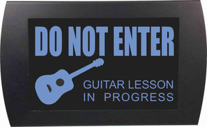 "AMERICAN RECORDER - ""GUITAR LESSON IN PROGRESS"" LED Lighted Sign"