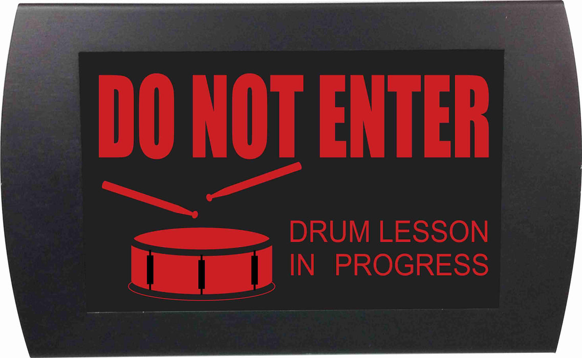 "AMERICAN RECORDER ""DRUM LESSON IN PROGRESS"" LED Lighted Sign"