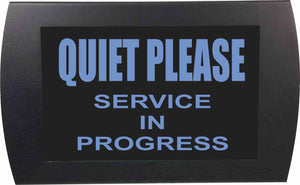 "AMERICAN RECORDER - ""QUIET PLEASE Service in Progress"" LED Lighted Sign"