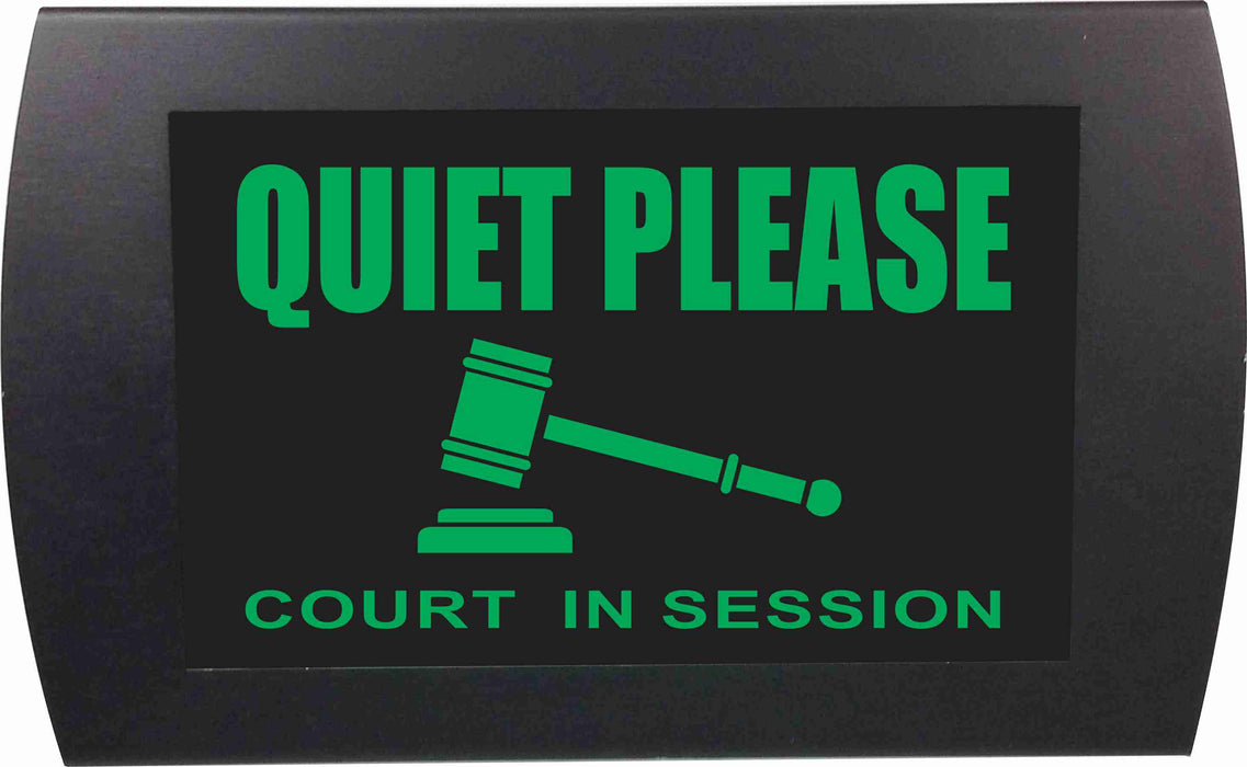 "AMERICAN RECORDER - ""QUIET PLEASE Court in Session"" LED Lighted Sign"