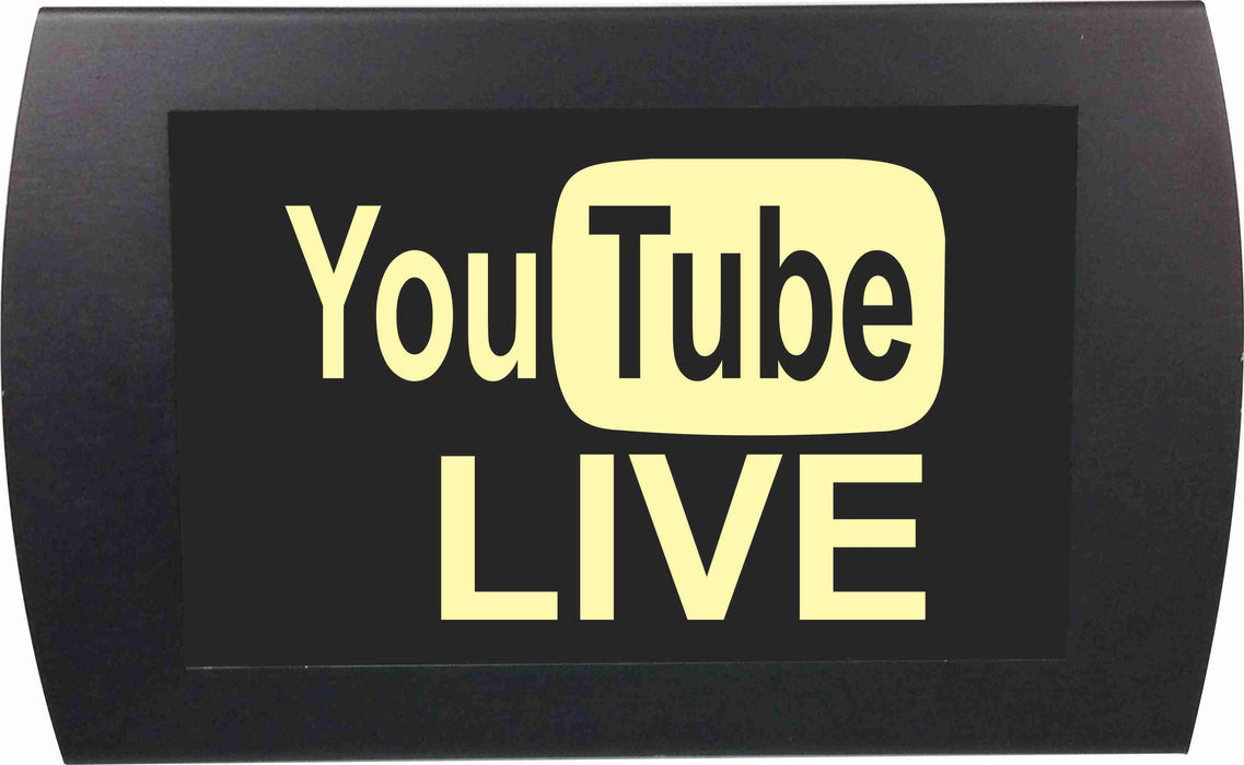 "AMERICAN RECORDER - ""YOU TUBE LIVE"" LED Lighted Sign"