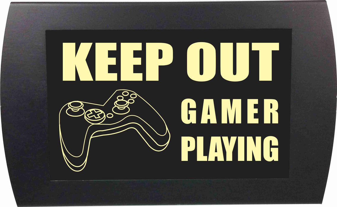 "AMERICAN RECORDER - ""KEEP OUT GAMER PLAYING"" LED Lighted Sign"