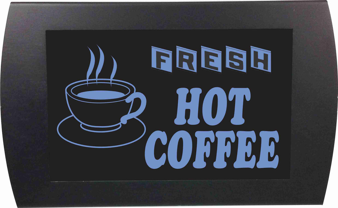 "AMERICAN RECORDER - ""FRESH HOT COFFEE"" LED Lighted Sign"