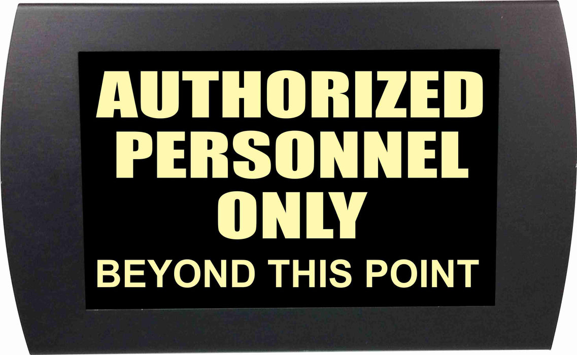 "AMERICAN RECORDER - ""AUTHORIZED PERSONNEL ONLY"" LED Lighted Sign"