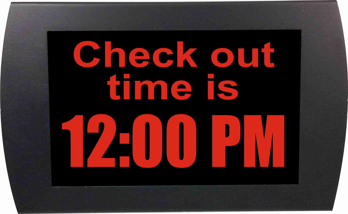 "AMERICAN RECORDER - ""CHECK OUT TIME"" LED Lighted Sign"