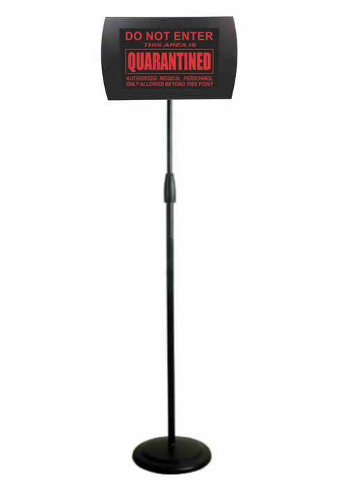 "AMERICAN RECORDER - ""DO NOT ENTER - QUARANTINED"" LED Lighted Sign with Floor Stand"