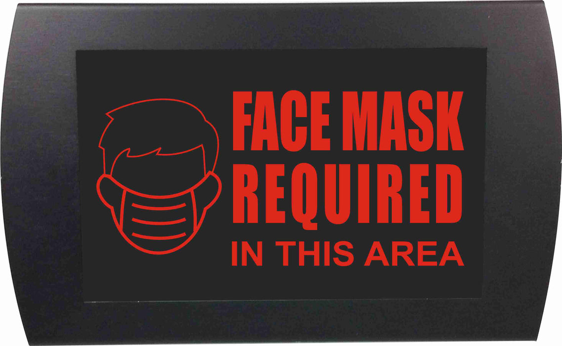 "AMERICAN RECORDER - ""FACE MASK REQUIRED"" LED Lighted Sign"