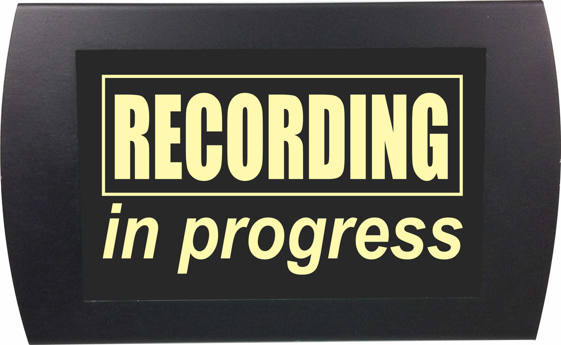 "AMERICAN RECORDER - ""RECORDING IN PROGRESS"" LED Lighted Sign"