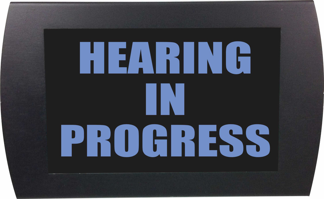"AMERICAN RECORDER -  ""HEARING IN PROGRESS"" LED Lighted Sign"