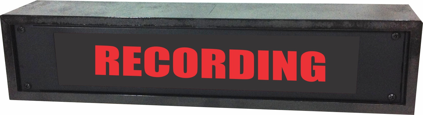 "AMERICAN RECORDER - 2RU ""RECORDING"" LED Lighted Sign with Enclosure"