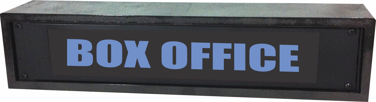 "AMERICAN RECORDER - 2RU ""BOX OFFICE"" LED Lighted Sign with Enclosure"