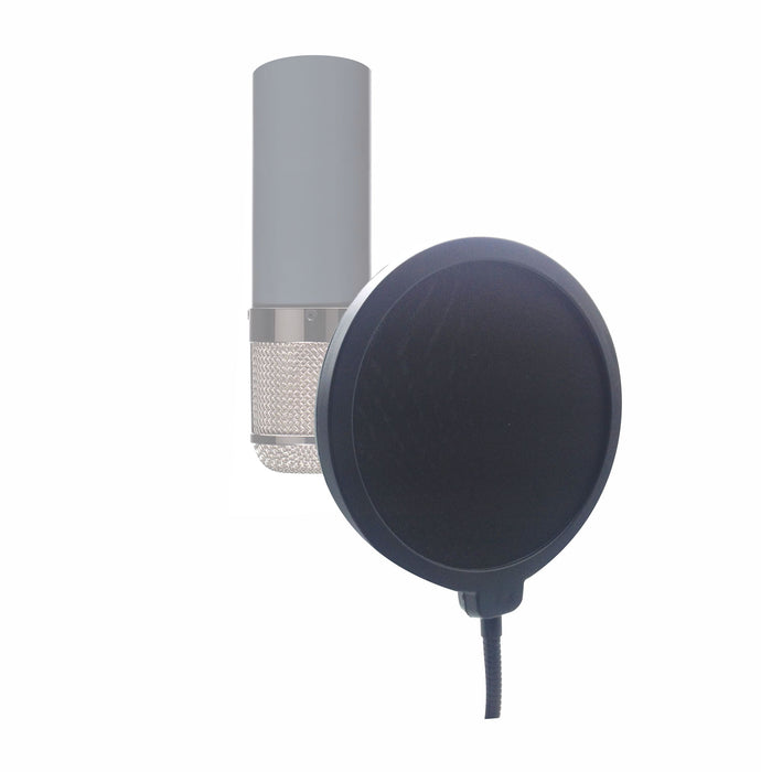 "AMERICAN RECORDER 6"" Recording Pop Filter with 12 inch gooseneck"
