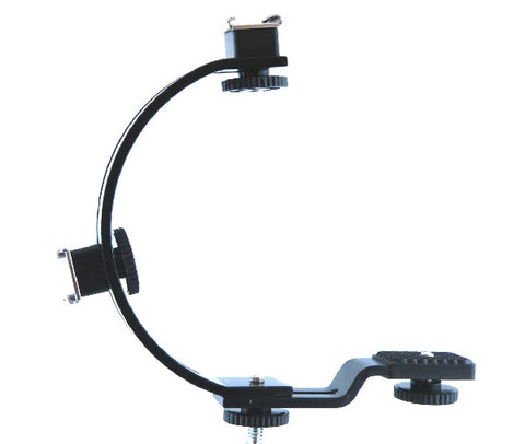 "6"" C Shaped Camera Bracket with 2 adjustable shoe mounts - AMERICAN RECORDER TECHNOLOGIES, INC."