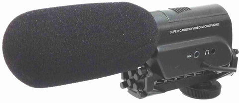 Mini Shotgun Microphone with Shockmount for DSLR Camera - AMERICAN RECORDER TECHNOLOGIES, INC. - 1