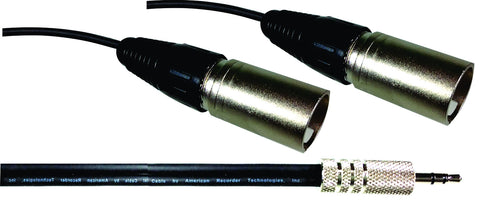 PRO Series 3.5mm to Dual XLR Male - AMERICAN RECORDER TECHNOLOGIES, INC.