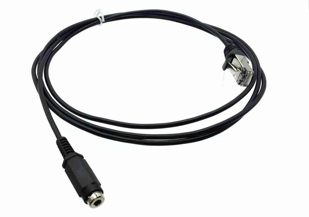RJ45 (male) to Single 3.5mm (female) Cable for AXIA - 6 feet