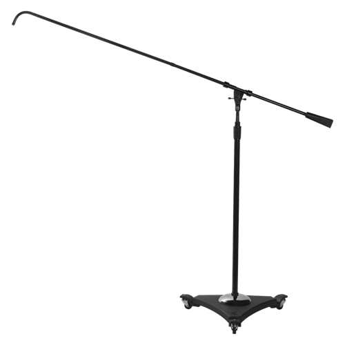 Studio Boom Mic Stands with Air Suspension System 43 inch to 68 inch - Ebony - AMERICAN RECORDER TECHNOLOGIES, INC.