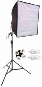 20 inch HP Square 1 Softbox Kit (2 CFLBulbs) No Bag