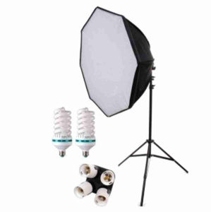 Zumm Photo 28 inch HP Octagonal 1 Softbox Kit (2 CFL Bulbs) No Bag