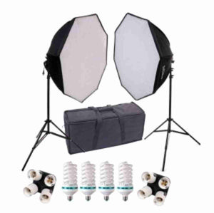 28 inch HP Octagonal 2 Softbox Kit (4 CFL Bulbs)
