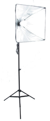 20 inch Square Softbox Kit W/1 LED, 6 ft Stand